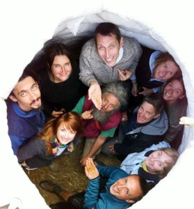 Happy attendees of an Earthbag workshop in Poland, 2012.