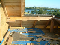 terrace onto lake Hancza ... almost ready to be a natural holiday home
