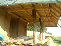 terrace for earthbag and straw bale workshop groups by lake Hancza