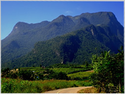 Chiang Dao mountains in Thailand