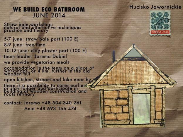 straw bale workshop leaflet